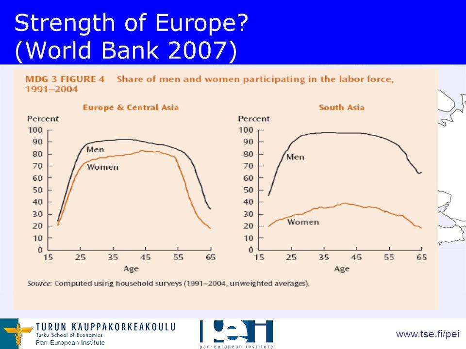 www.tse.fi/pei Strength of Europe (World Bank 2007)