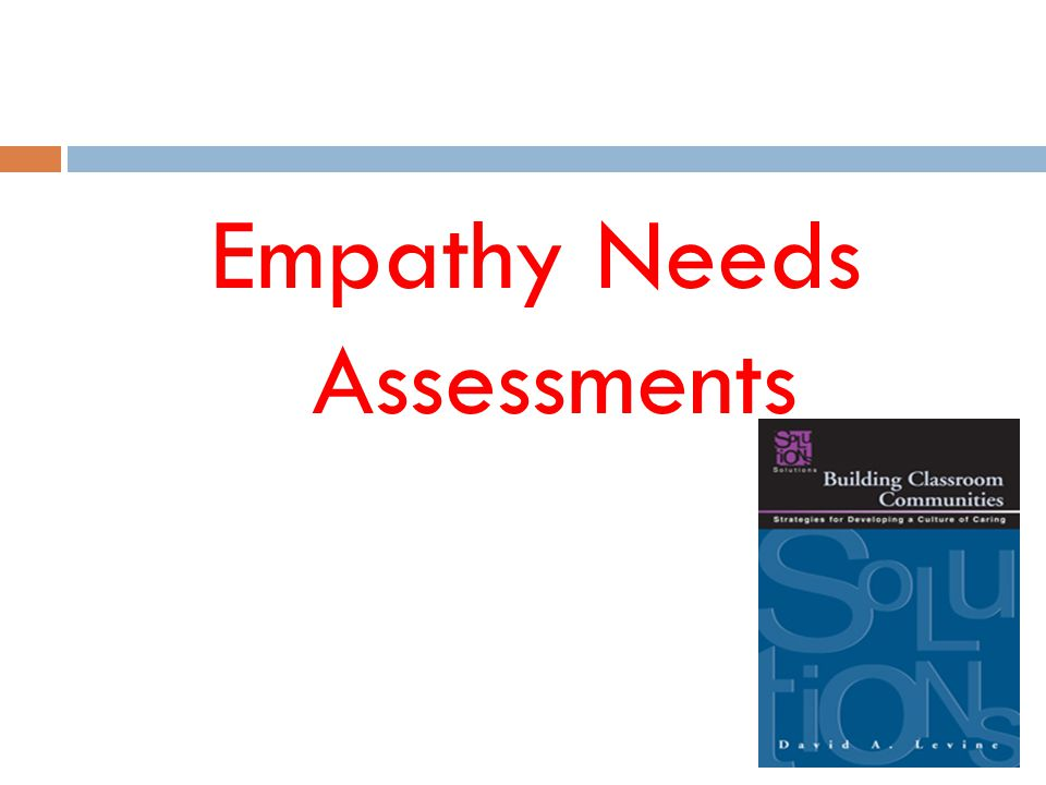 Empathy Needs Assessments
