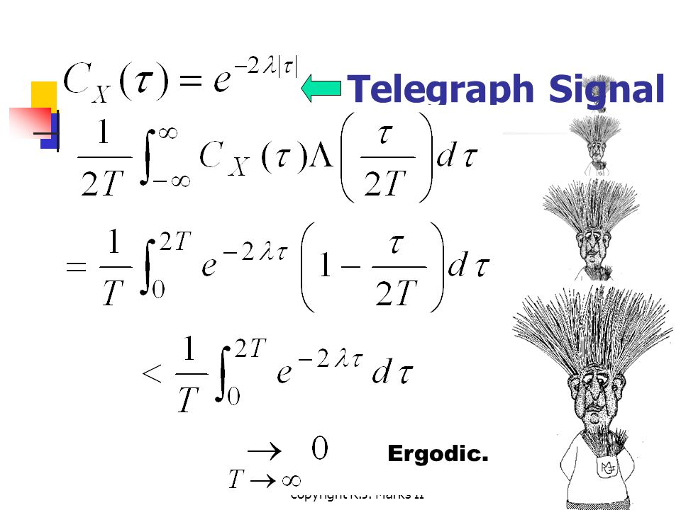 copyright R.J. Marks II Telegraph Signal Ergodic.