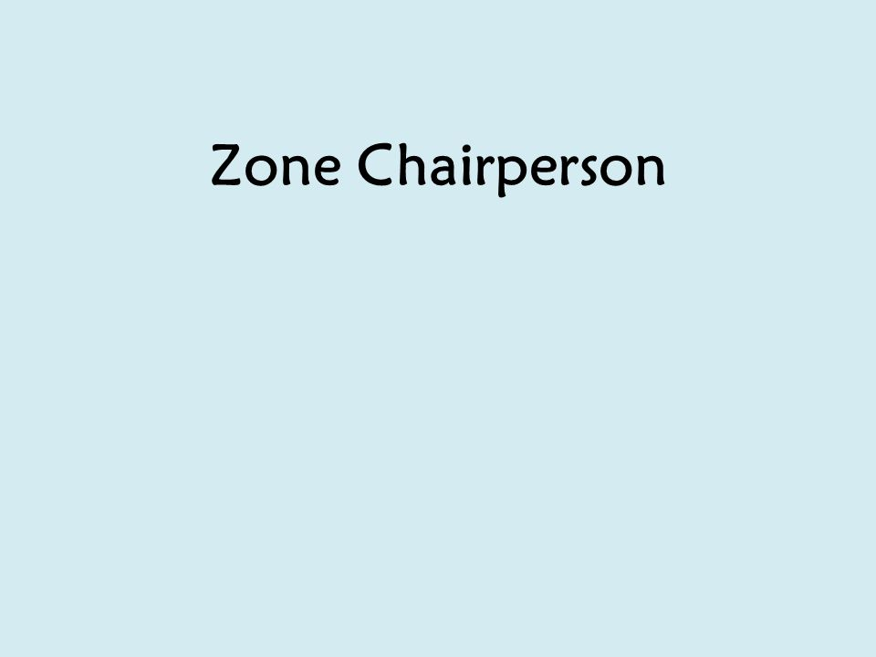 Zone Chairperson