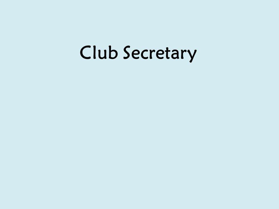 Club Secretary