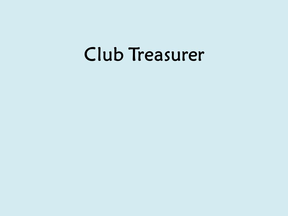 Club Treasurer