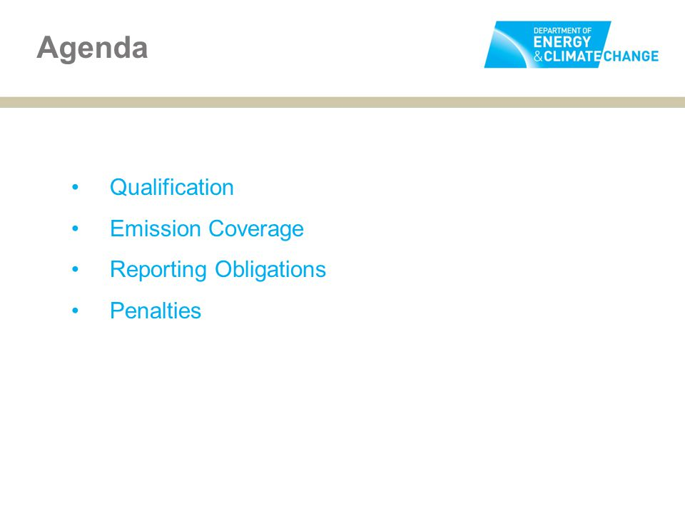 Qualification Emission Coverage Reporting Obligations Penalties Agenda