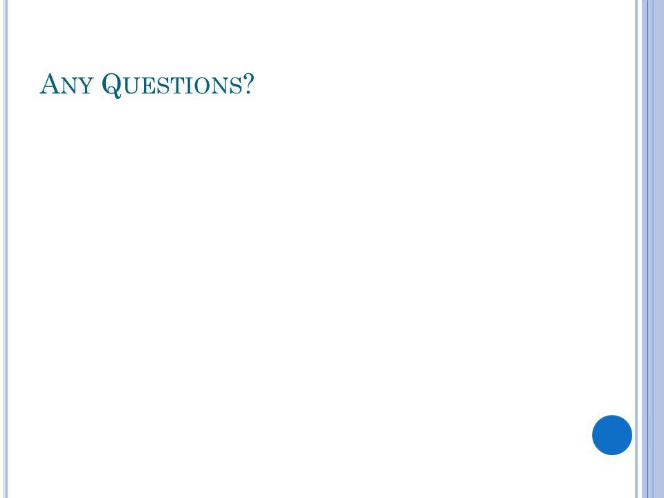 A NY Q UESTIONS ?