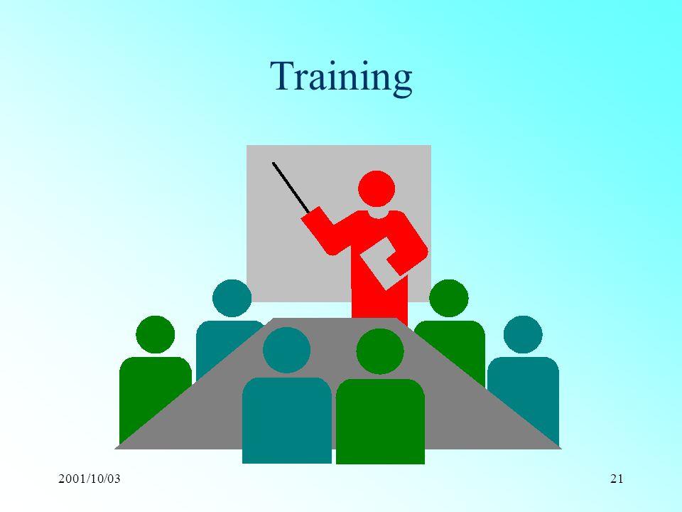 2001/10/0321 Training