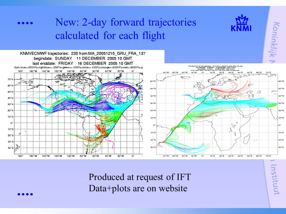 New: 2-day forward trajectories calculated for each flight Questions.
