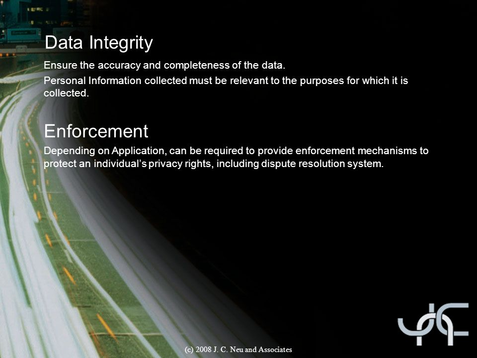 Data Integrity Title Ensure the accuracy and completeness of the data.