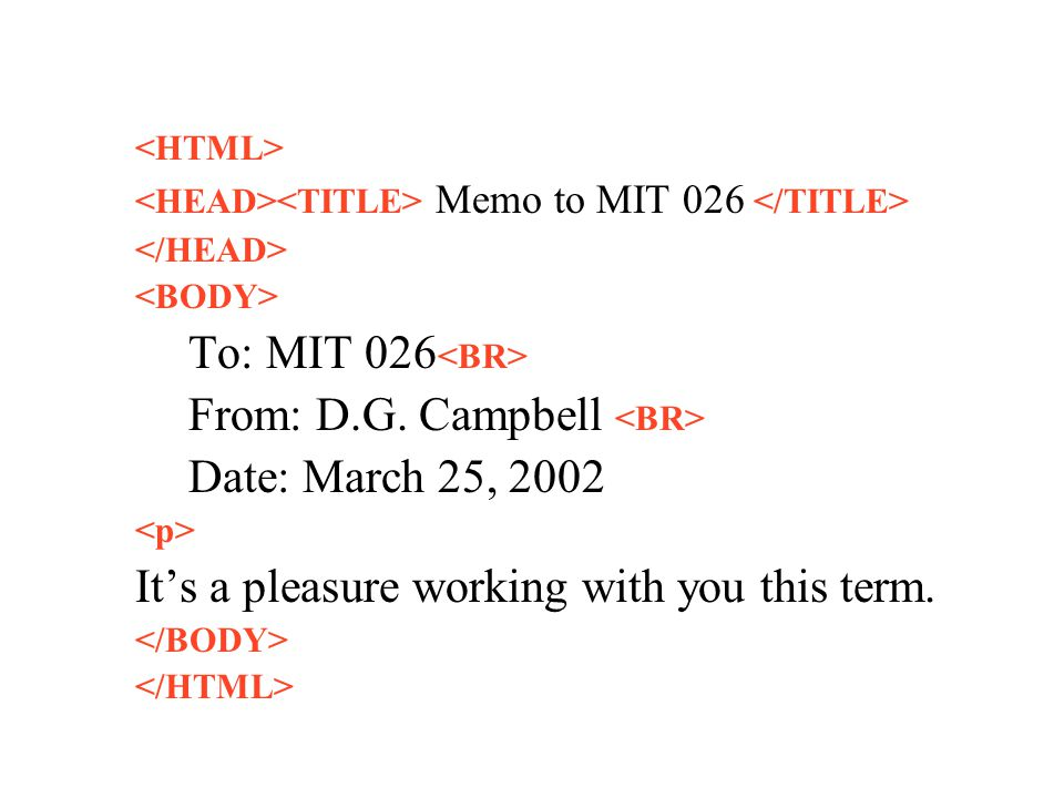 Memo to MIT 026 To: MIT 026 From: D.G.