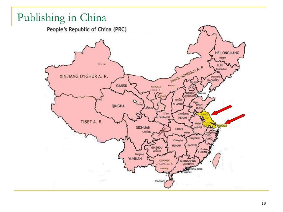 19 Publishing in China
