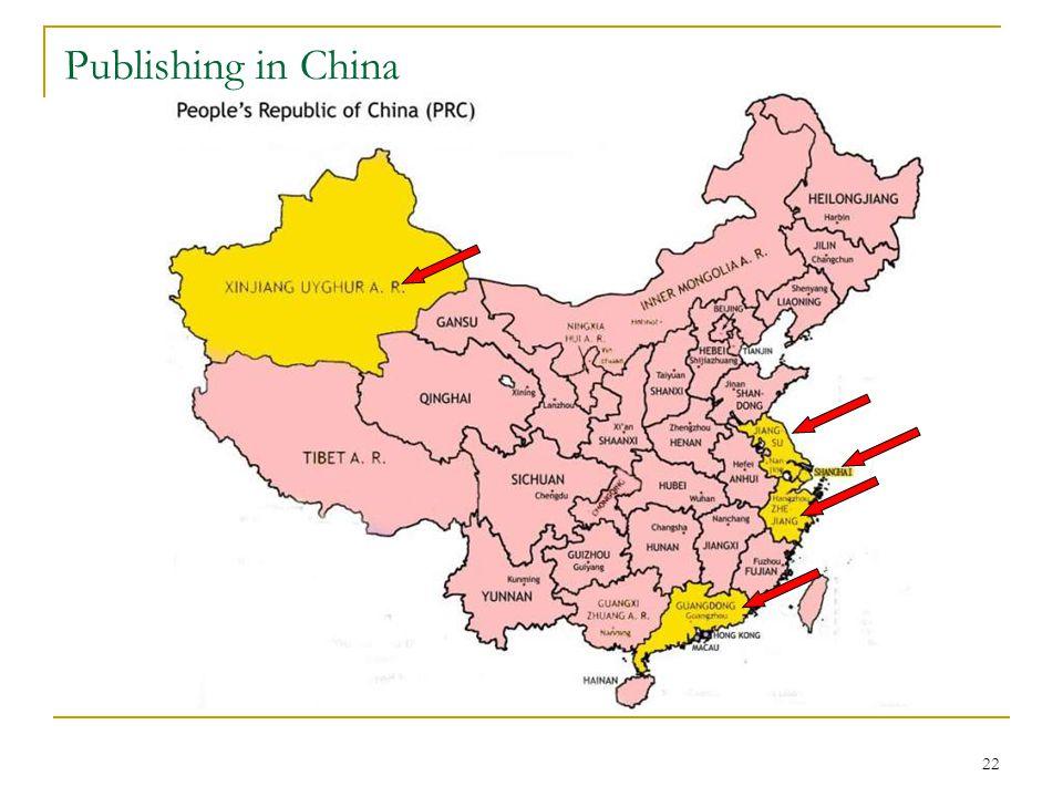 22 Publishing in China