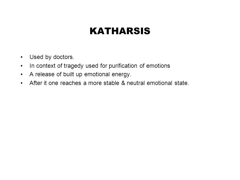 KATHARSIS Used by doctors.