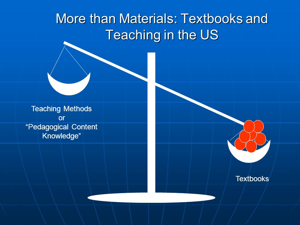 More than Materials: Textbooks and Teaching in the US Textbooks Teaching Methods or Pedagogical Content Knowledge
