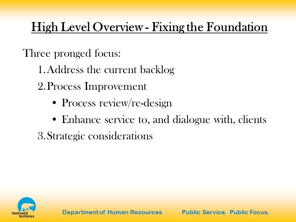 Department of Human Resources Public Service. Public Focus.