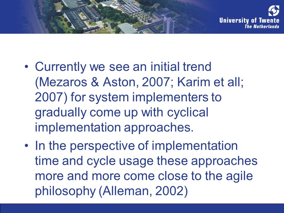 Organizations Learn: Cyclical implementation ES Implementation cycle