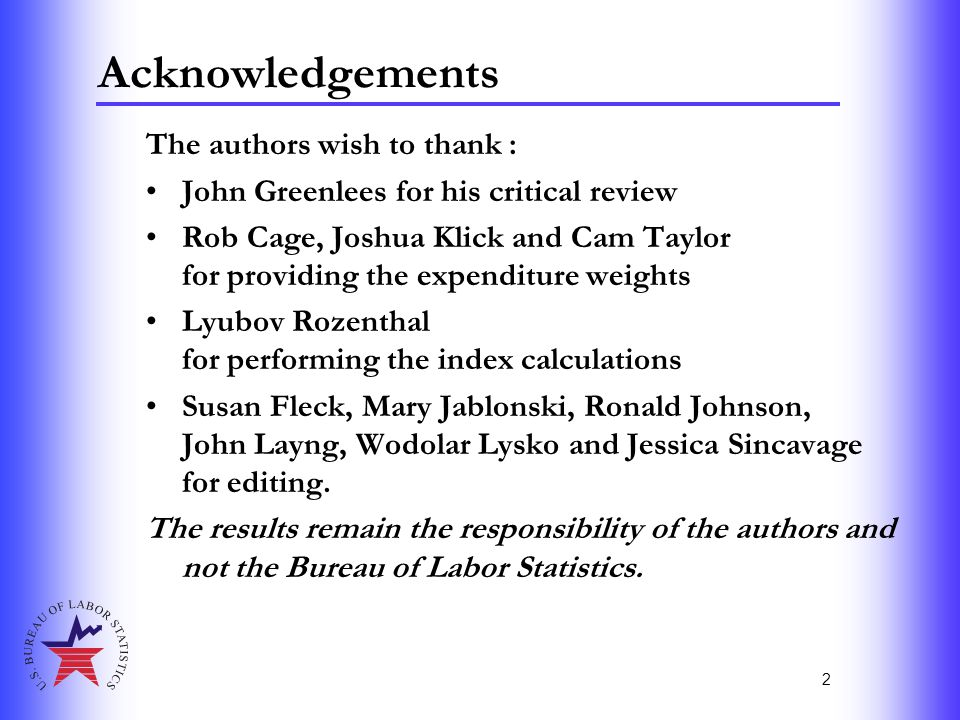 2 Acknowledgements The authors wish to thank : John Greenlees for his critical review Rob Cage, Joshua Klick and Cam Taylor for providing the expendit