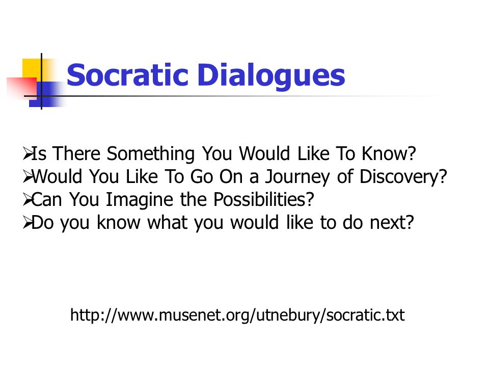 Socratic Dialogues  Is There Something You Would Like To Know.