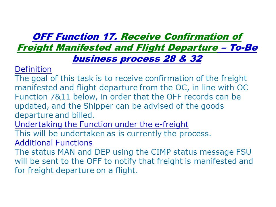 OFF Function 17.