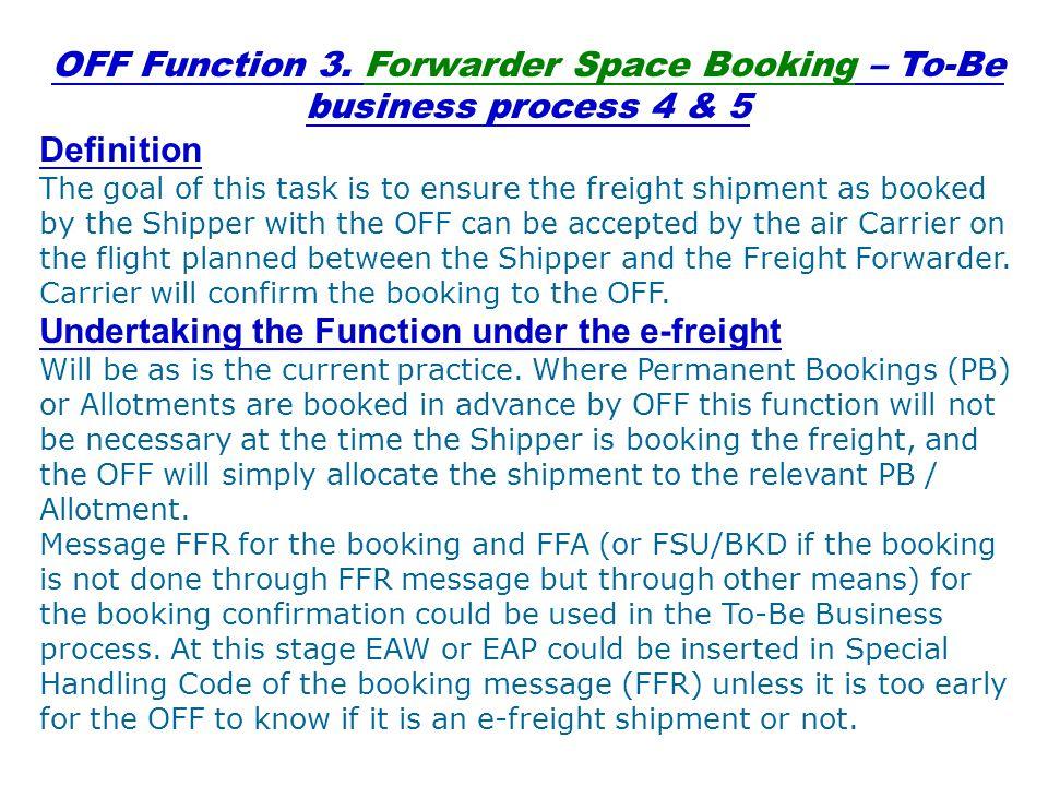 Origin Carrier (OC) Functions OC Function 1.