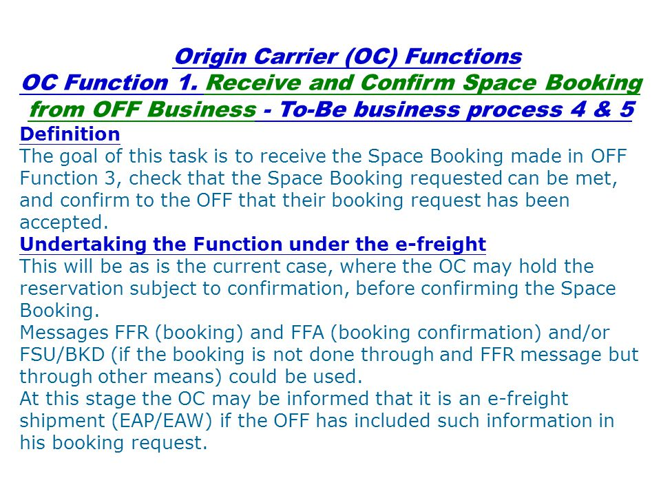 OC Function 2.