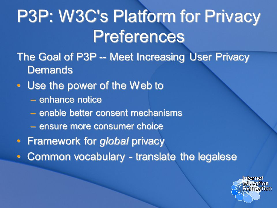Why Implement P3P.