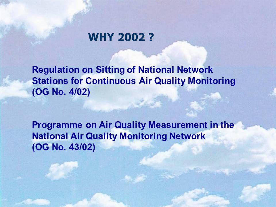 Regulation on Sitting of National Network Stations for Continuous Air Quality Monitoring (OG No.