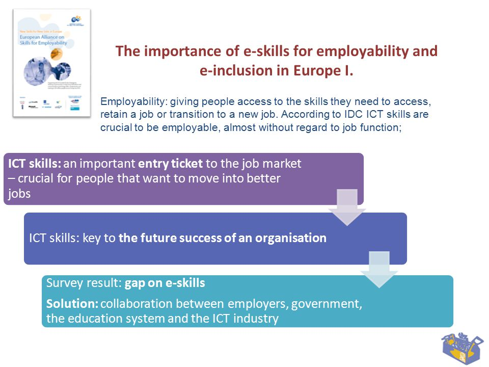 The importance of e-skills for employability and e-inclusion in Europe I.