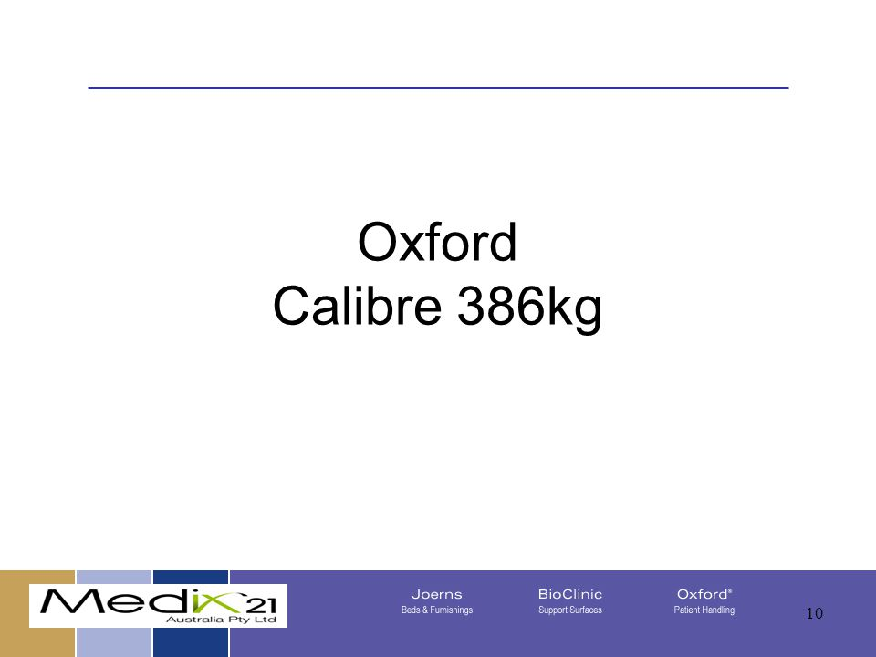 Oxford Calibre 386kg 08/05/201510