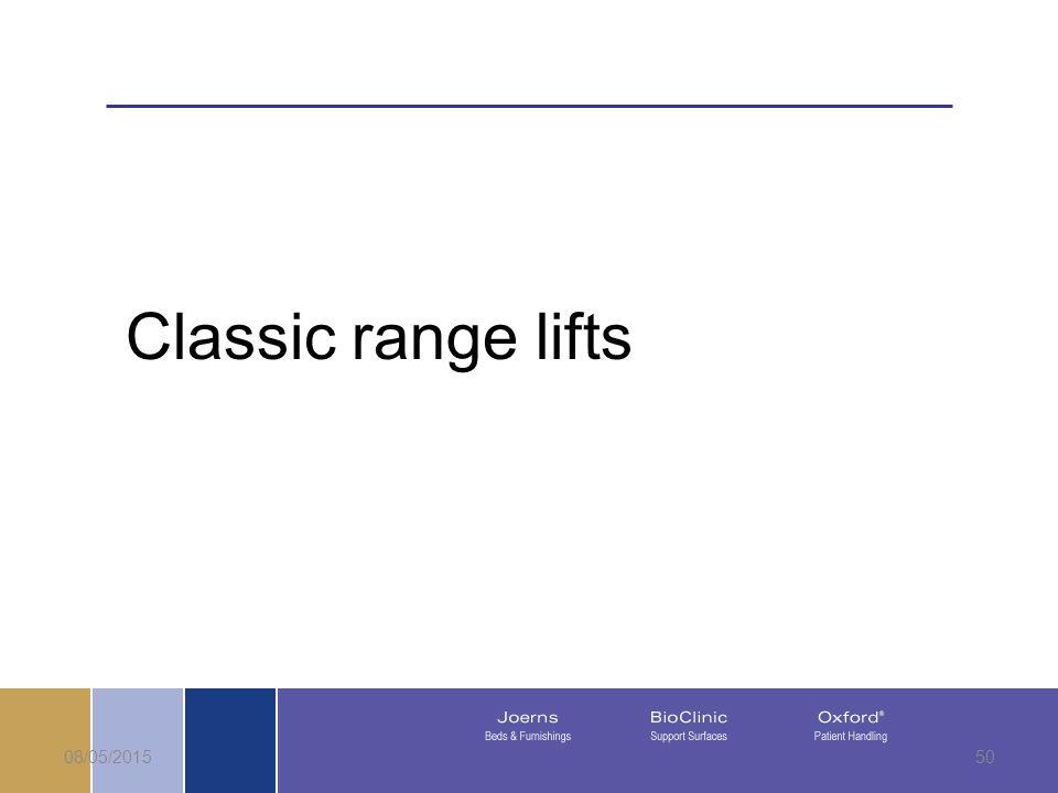 08/05/201550 Classic range lifts