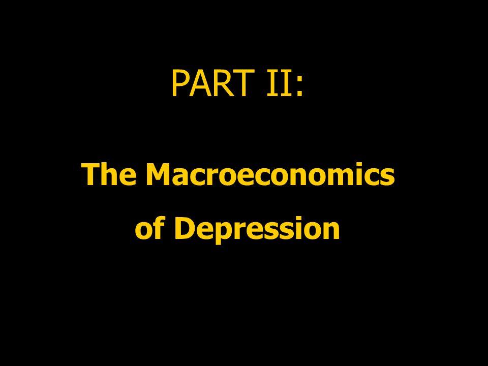 PART II: The Macroeconomics of Depression