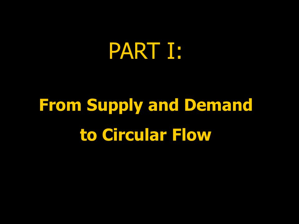 PART I: From Supply and Demand to Circular Flow