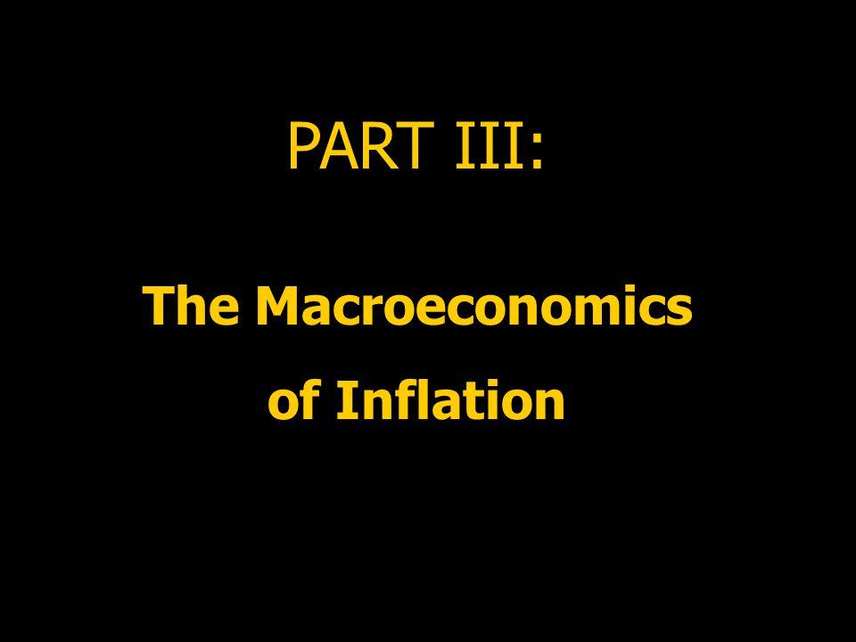 PART III: The Macroeconomics of Inflation