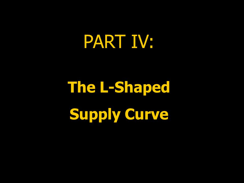 PART IV: The L-Shaped Supply Curve