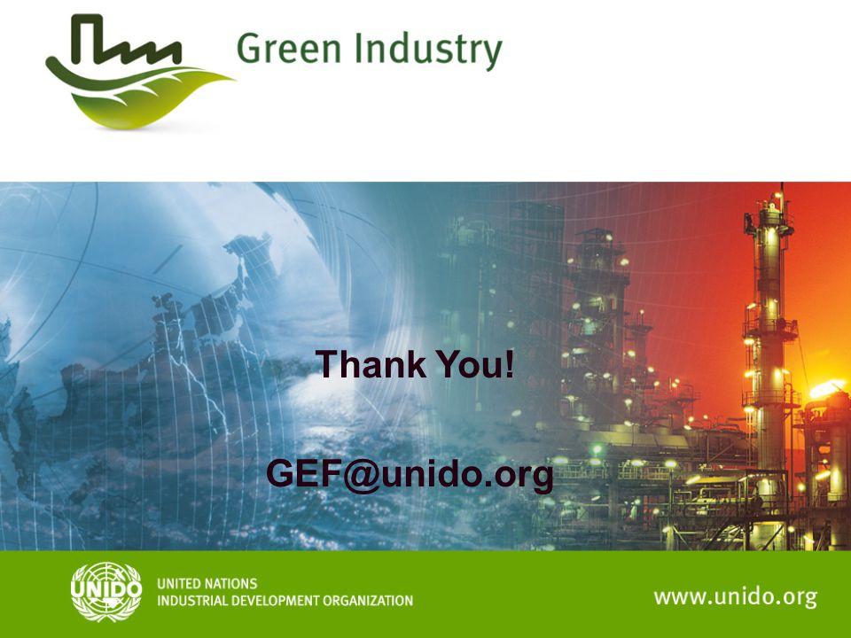Thank You! GEF@unido.org