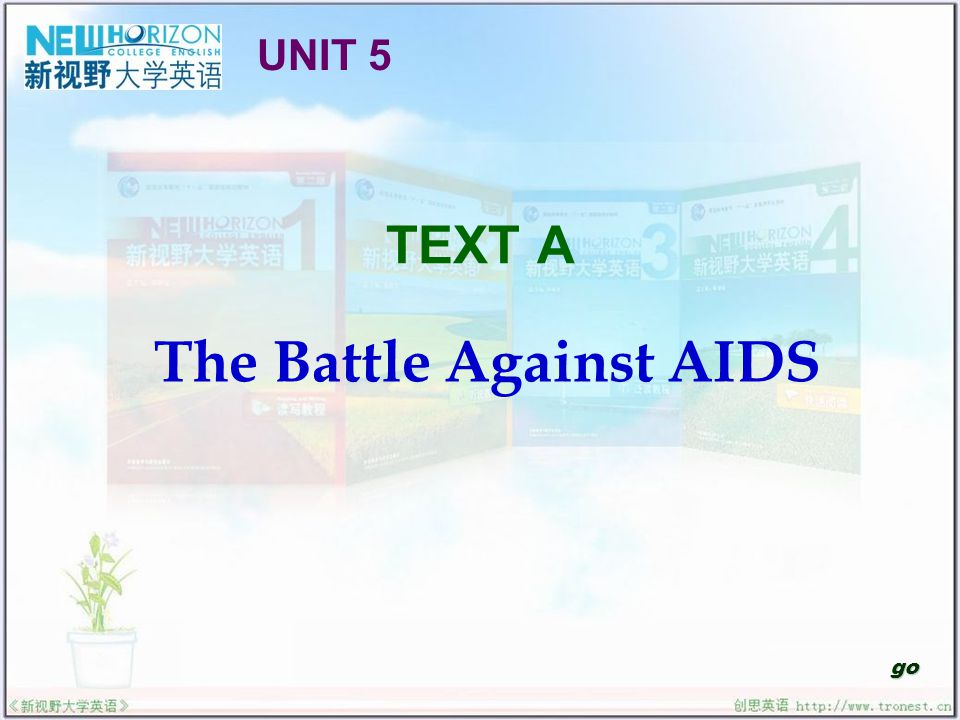 The Battle Against AIDS Useful Expressions Text Interpretation Sentence Structure Translation Practice Structured Writing Reading Skill