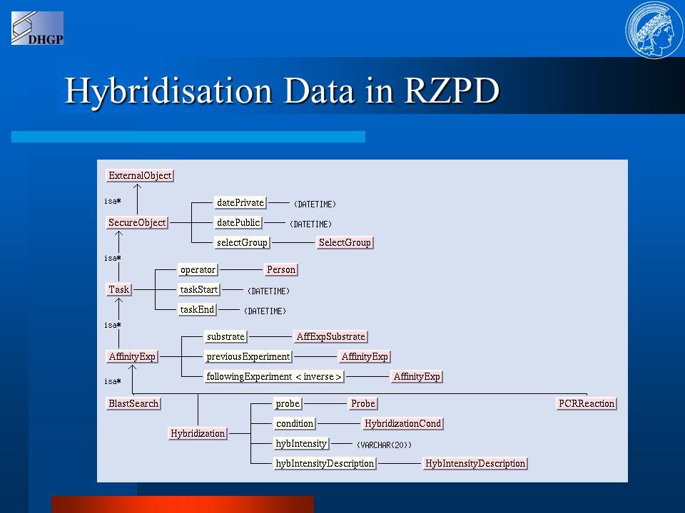 Hybridisation Data in RZPD