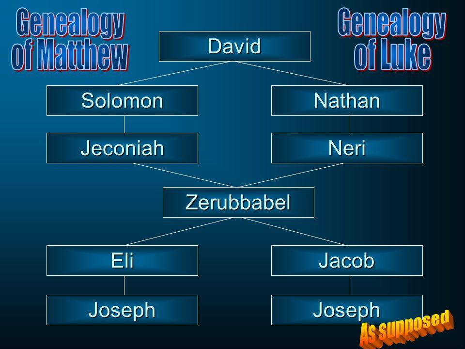 JosephJoseph SolomonNathan David Zerubbabel JeconiahNeri EliJacob
