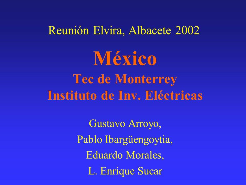 México Tec de Monterrey Instituto de Inv. Eléctricas Gustavo Arroyo, Pablo Ibargüengoytia, Eduardo Morales, L. Enrique Sucar Reunión Elvira, Albacete