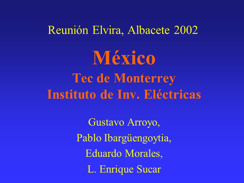 México Tec de Monterrey Instituto de Inv.