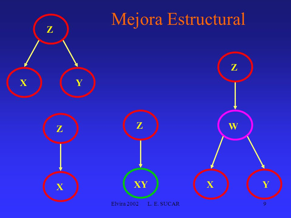 Elvira 2002 L. E. SUCAR9 Mejora Estructural YX Z X Z XY Z W Z YX