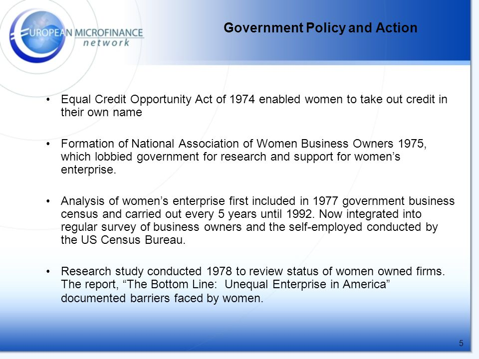 6 1979 President Carter established an Office of Women's Business Ownership within the US Small Business Administration (SBA) and government tried to get more procurement contracts to women-owned businesses.