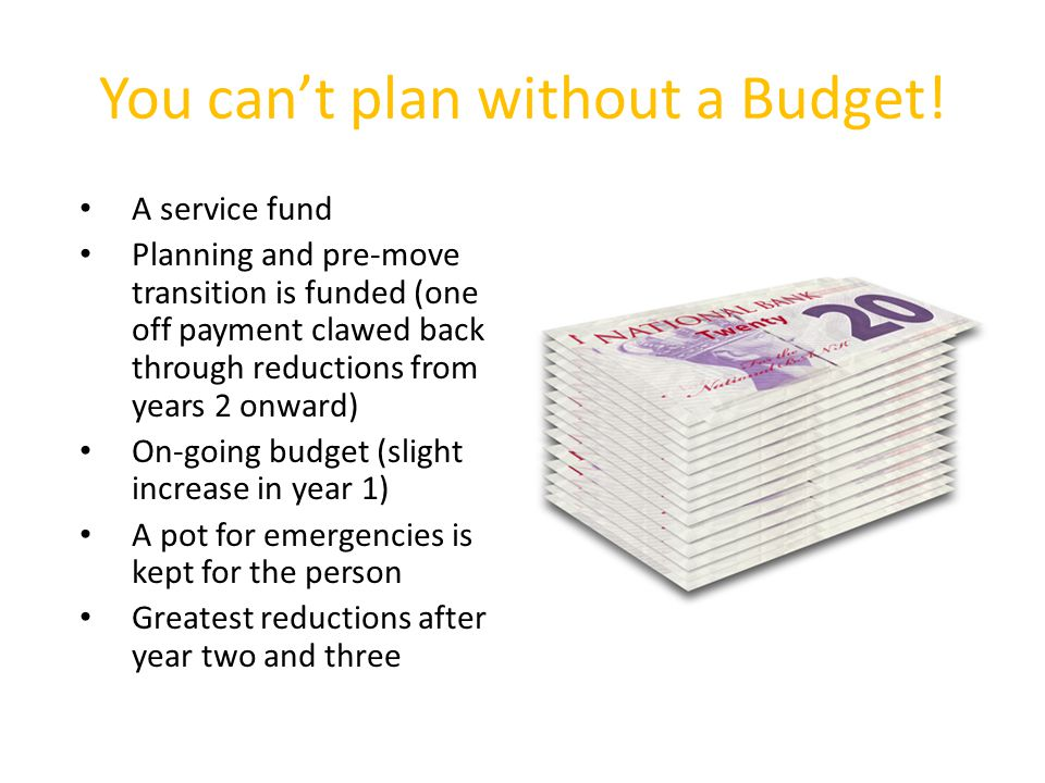 You can't plan without a Budget.