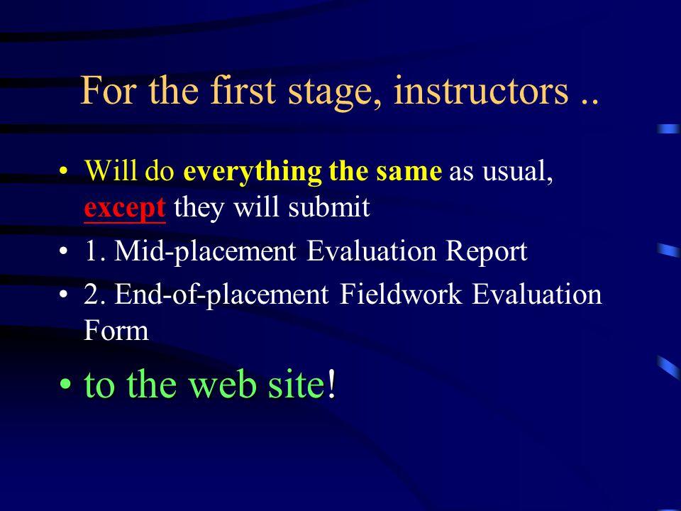 Instructors can...