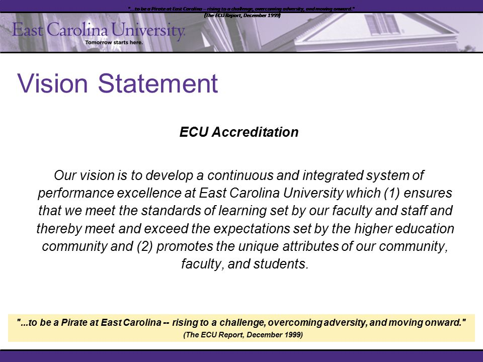 ECU – Catalyst for Change Reaffirmation of Accreditation – SACS-COC Baldrige Performance Excellence Program (Meta-assessment) Business Process Review Title III – Strengthening Institutions Programs 2010 Institutional Planning, Assessment & Research