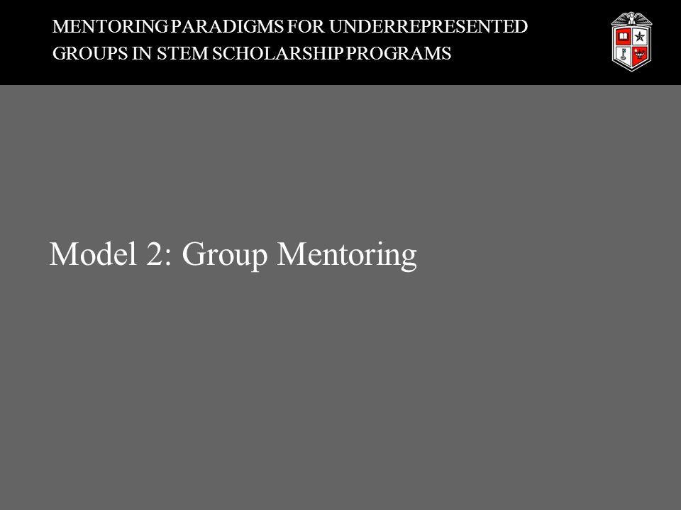 MENTORING PARADIGMS FOR UNDERREPRESENTED GROUPS IN STEM SCHOLARSHIP PROGRAMS Model 2: Group Mentoring