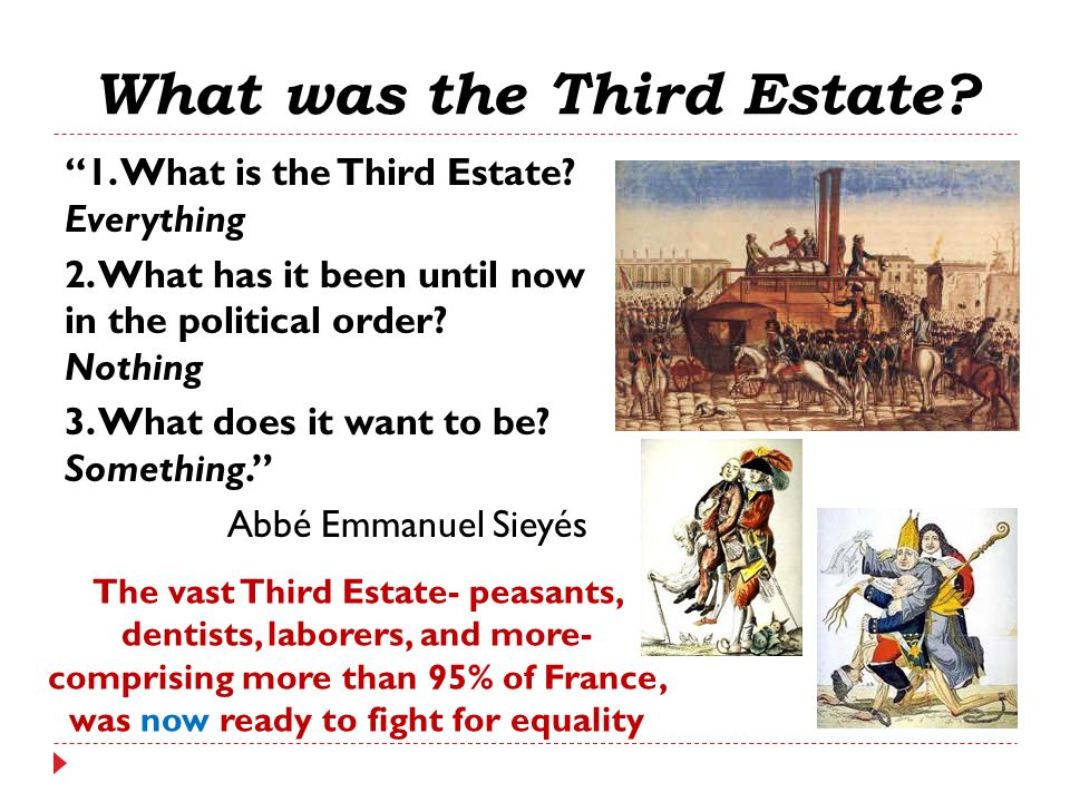 """What was the Third Estate? """"1. What is the Third Estate? Everything 2. What has it been until now in the political order? Nothing 3. What does it want"""