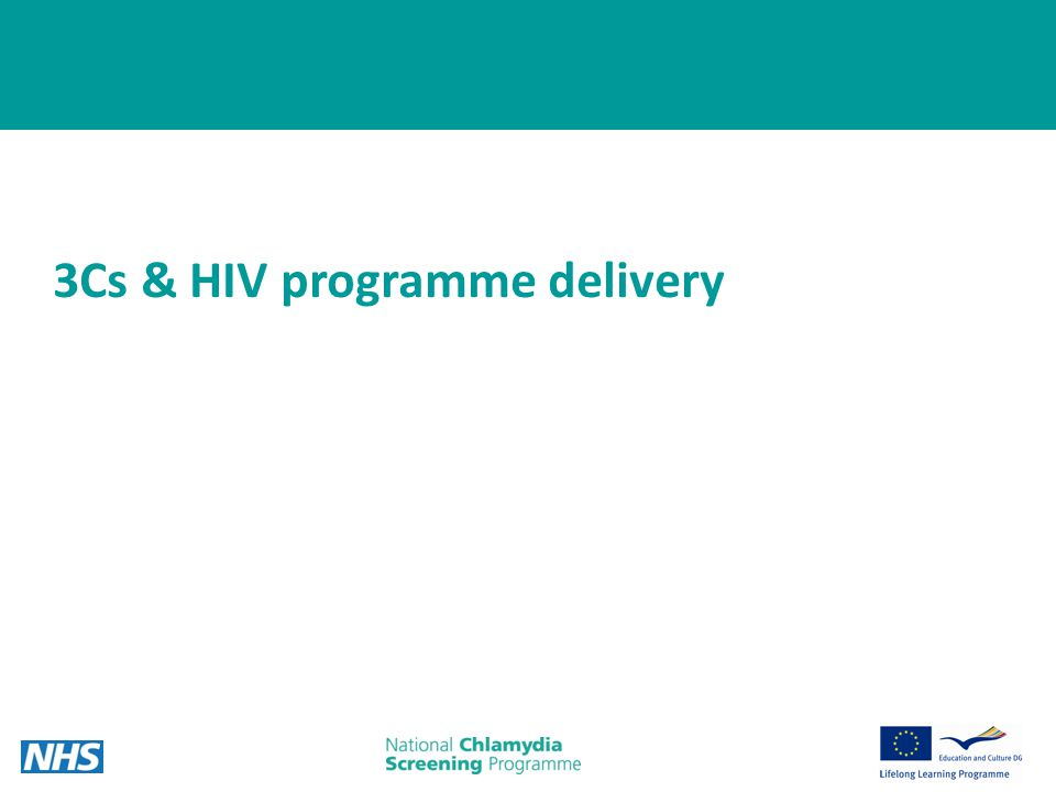 16 3Cs & HIV programme delivery