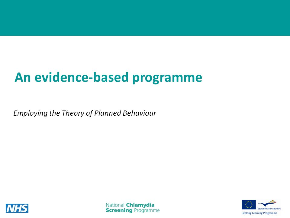 8 An evidence-based programme Employing the Theory of Planned Behaviour
