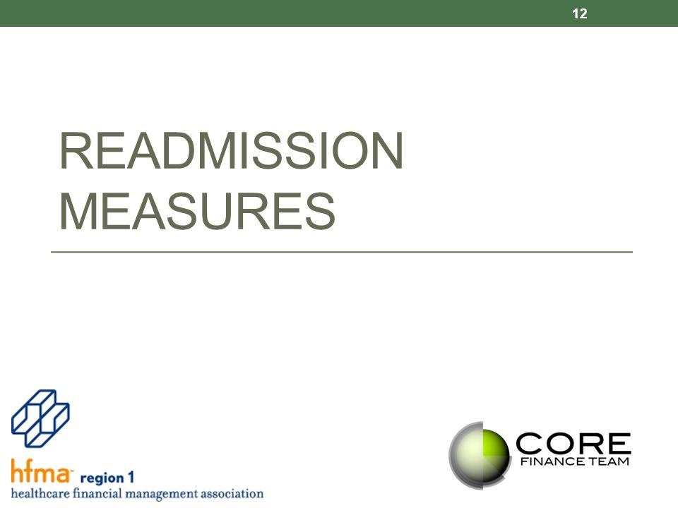 READMISSION MEASURES 12