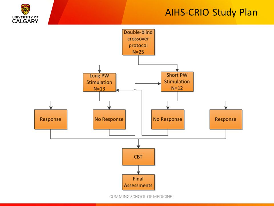 AIHS-CRIO Study Plan CUMMING SCHOOL OF MEDICINE