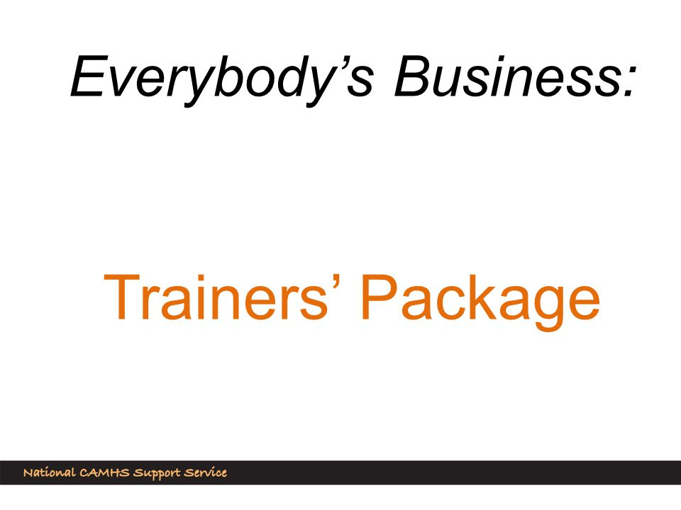 Everybody's Business: Trainers' Package